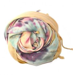 Brightly Twisted Tie-Dye Scarf available at les pommettes los angeles - Svpply