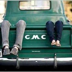 Vintage Trucks, Old Trucks, Pickup Trucks, Gmc Pickup, Farm Trucks, Couple Photography, Engagement Photography, Photography Ideas, Wedding Photography