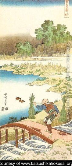 Gathering Rushes (Tokusa kari) - Katsushika Hokusai - www.katsushikahokusai.org