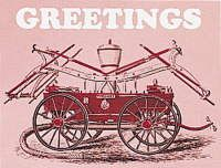 Fire Steamer Christmas Cards