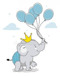 Baby Elephant Drawing, Baby Cartoon Drawing, Elephant Nursery Art, Elephant Quilt, Elephant Theme, Cartoon Drawings, Cute Drawings, Elephant Balloon, Clipart Baby