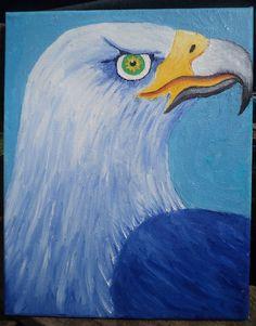 Blue overtone eagle