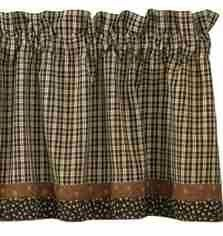 """Cider Mill Lined Valance With Border by Primitive Home Decors. $27.95. 100% Cotton Fabric. Cider Mill Lined Valance With Border 72"""" Wide x 14"""" Long 100% Cotton Lined 1-1/2"""" header and a 2"""" rod pocket. Shirr on conventional curtain rod. Priced and sold individually. Designed and manufactured by Park Designs."""