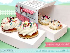 Retro Camper Cupcake Box