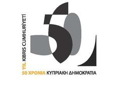 Cyprus 50th Independence. Nice job on the use of negative space, it's used with such effect that one gets the sense that there is a story behind it.