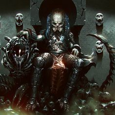 Predator and Xenomorph Predator Movie, Alien Vs Predator, Wolf Predator, Giger Alien, Shadow Of The Colossus, Tumblr, Monster Art, Tentacle, Sci Fi Art
