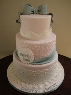 Baptism cake By SHogg on CakeCentral.com