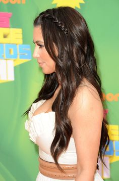 Kim Kardashian braided hair