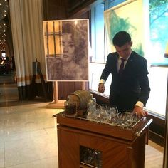 Our Negroni trolley is the perfect compliment to admiring Benjamin Shine's exhibition at 45 Park Lane