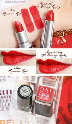 Maybelline Russian Red Dupe, Maybelline MAC Dupe #Dupe #MACDupe #RussianRed