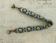 Linda's Crafty Inspirations: Leola Bracelet - Poppy Seed & Matte Blue