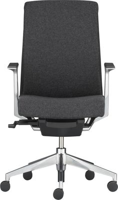 In Grey flannel (stock plus color) Haworth® Very™ Charcoal Task Chair  | Crate and Barrel
