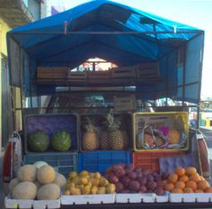 Rural areas get their fruit and vegetables by weekly fruit trucks. #survivingmexico #Mexico #ruralmexico