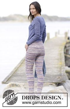 Knitted DROPS tights with rib in Crochet Pants, Crochet Mittens, Crochet Wool, Knitting Socks, Knitting Patterns Free, Knit Patterns, Free Knitting, Free Pattern, Knit Leggings