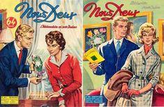 Les couvertures de Nous Deux étaient dessinées...  Photoroman Nous Deux