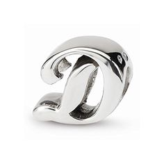 Reflection Beads Sterling Silver Letter D Script Bead (12 x 12 mm) *** Be sure to check out this awesome product.