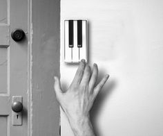How fun!...Piano doorbell!