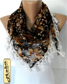 Lace scarf ,women scarves - guipure -  fashion scarf - gift Ideas For Her Women's Scarves-christmas gift- for her -Fashion accessories