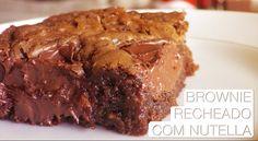 Brownie Recheado de Nutella - Confissões de uma Doceira Amadora