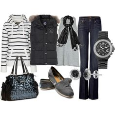 black, created by sandreamarie on Polyvore