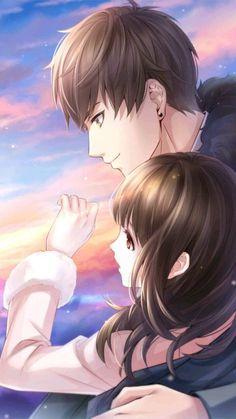 Bai Qi - Love and Producer Couple Amour Anime, Couple Anime Manga, Anime Sweet Couple, Anime Cupples, Romantic Anime Couples, Anime Couples Manga, Anime Couple Romantique, Cute Anime Coupes, Anime Love Story