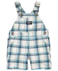 Osh Kosh Baby Shortall, Baby Boys Plaid Shortall - Kids Baby Boy (0-24 months) - Macy's