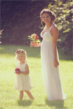 Kate Uhry Photo captured this cute flower girl and relaxed bride look http://www.weddingchicks.com/2014/03/08/kate-uhry-photography/