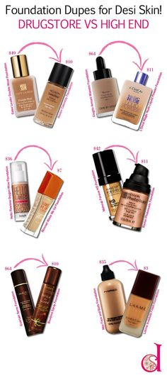 Foundation Dupes for DESI Skin! Drugstore vs High End – desiBeauty blog