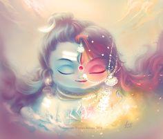 Please visit Ardhanarishvara Shiva Shakti to read interesting posts. Shiva Art, Shiva Shakti, Krishna Art, Hindu Art, Radhe Krishna, Lord Krishna, Rudra Shiva, Lord Ganesha, Hindu Deities