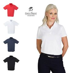 Gary Player golf shirts for ladies are available in different styles and colours. Our most popular Gary Player golf shirt is the Wynn Golf Shirt. Women In Africa, Corporate Outfits, Golf Gifts, Most Popular, Different Styles, Boards, Ruffle Blouse, Colours, Lady