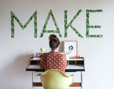 Make This: Typography Wall Art Decal - Paper and Stitch