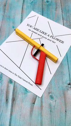 Cool Paper Crafts, Paper Crafts Origami, Diy Paper, Fun Crafts, Paper Art, Creative Crafts, Diy Crafts Hacks, Diy Crafts For Gifts, Diy Home Crafts
