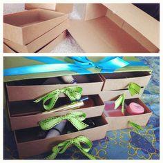 Birchbox boxes used to make storage... Good idea!