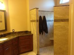 Hereu0027s A Beautiful Groutless Shower With A Towel Holders Built Right In!  Smart Design Makes