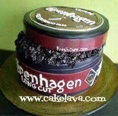 Copenhagen tobacco can cake by Cake Lava