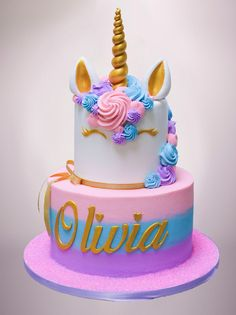 Check Out Pictures of the Best Desserts, Pastries and Cakes — Carlo's Bakery # unicorn cake Unicorn Themed Birthday Party, Birthday Cake Girls, Unicorn Birthday Cakes, 6th Birthday Cakes, Birthday Kids, Unicorn Cake Pops, Unicorn Cakes, Easy Unicorn Cake, Cupcake Cakes