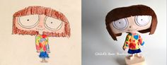 "This company creates your child's own customized ""softie"" from their drawings - drawing by Evie, age 10 @childsownstudio"