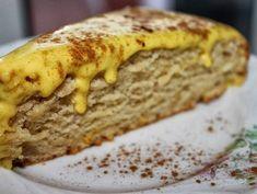 Bolo de canela com creme de ovos