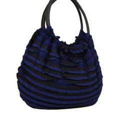 Navy Blue Fashion Fabric Handbag In Stock: 45