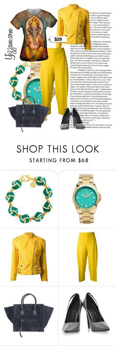 """Feeling Yellow"" by yizzam ❤ liked on Polyvore featuring Brooks Brothers, Juicy Couture, Christopher Kane, Chloé, Alexander Wang, yellow, ootd and spring2016"