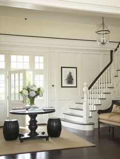molding on staircase and walls