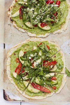 Serves: 2 pizzas | Prep time: 10 minutes | cooking time: 15 minutes Pizza base:180g gluten free flour150g goats or dairy free yoghurt¼ tsp baking powder¼ tsp sa