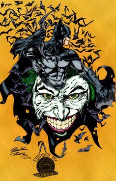 Batman and Joker, Cat Luniscia on ArtStation at https://www.artstation.com/artwork/523yg