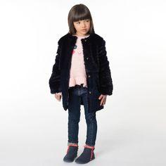 Billieblush - Girls Blue Fur Coat |