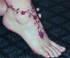 anle tattoo | Foot tattoo ideas for women and men