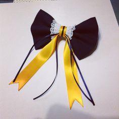 Suffolk University inspired Hair bow