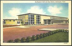 Burlington Train Depot, 1944. Burlington, Iowa.