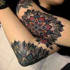 Elbow mandalas by @micotattoo ♠️ www.facebook.com/TTTism www.TTTism.tumblr.com…