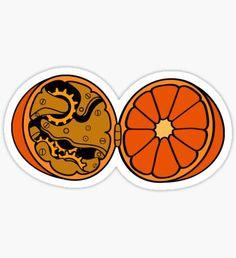 Clockwork Orange (brass) Sticker