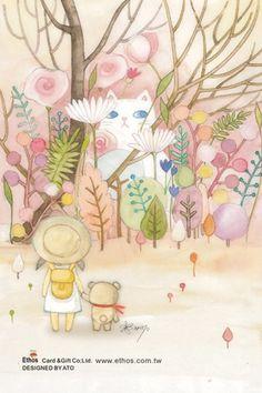 插畫家Ato Recover:每個人生的相遇,都隱藏著一份神秘禮物。來源http://www.facebook.com/123ato